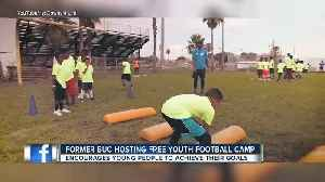 News video: Former Tampa Bay Buccaneer Louis Murphy, Jr. hosting annual free camp, youth summit