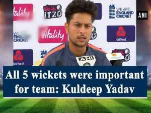 All 5 wickets were important for team: Kuldeep Yadav [Video]