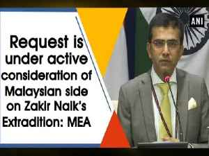 Request is under active consideration of Malaysian side on Zakir Naik's Extradition: MEA [Video]