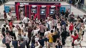 'It's Coming Home' - England Fans Go Wild in London Train Station After Colombia Win [Video]