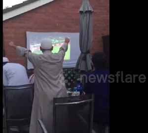 Agony and ecstasy: British Muslims watch nail-biting England penalties [Video]
