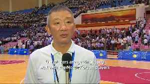 North and South Korean male basketball players hold friendly match in Pyongyang [Video]