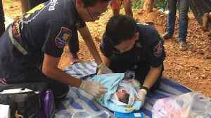 Newborn baby boy found after being abandoned on building site [Video]