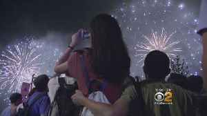 Fourth Of July Fireworks Dazzle Crowd [Video]