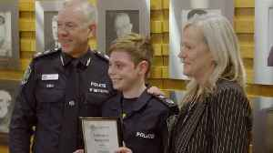 14-Year-Old with Genetic Disorder Gets To Become Police Officer [Video]