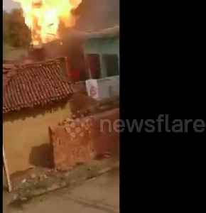 Terrifying moment three LPG cylinders explode during wedding in India [Video]