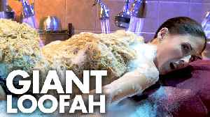 Getting a Full Body Scrub with a GIANT LOOFA?!? (Beauty Trippin) [Video]