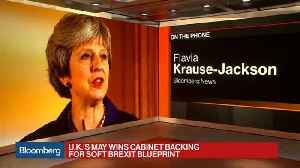 News video: U.K.'s May Wins Crucial Victory as Cabinet Backs Soft Brexit Blueprint