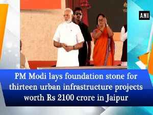 PM Modi lays foundation stone for thirteen urban infrastructure projects worth Rs 2100 crore in Jaipur [Video]