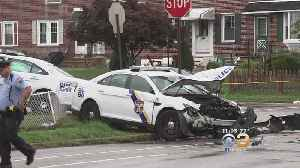 2 Philadelphia Police Officers Expected To Be OK After Crash In Mayfair [Video]