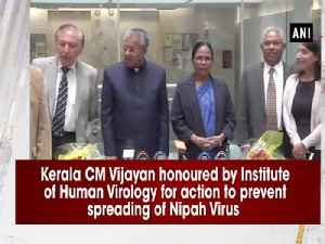 Kerala CM Vijayan honoured by Institute of Human Virology for action to prevent spreading of Nipah Virus [Video]