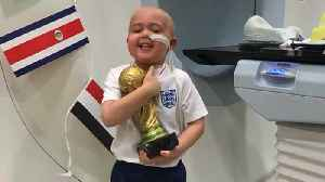 5-Year-Old With Brain Cancer Awarded Special World Cup Trophy for Bravery [Video]