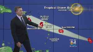 Tropical Storm Beryl Downgraded from a Hurricane [Video]