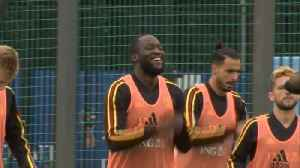 Belgium team in cheerful spirits as they train for semi-final [Video]