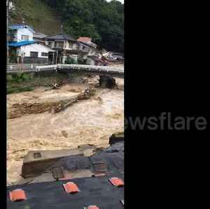 Eyewitness video shows collapsed homes after Japan floods [Video]