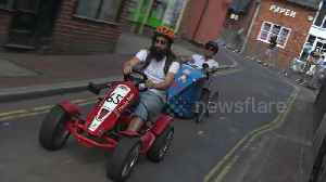 DIY racers pedal round Hampshire town for 'grand prix' [Video]