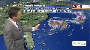 News video: Tropical Storm Chris could become a hurricane off U.S. East Coast