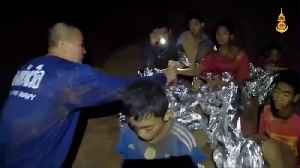 News video: Second batch of boys saved from cave as Thai soccer team rescue enters second day