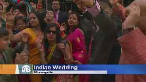 Traditional Indian Wedding Party Outside WCCO [Video]
