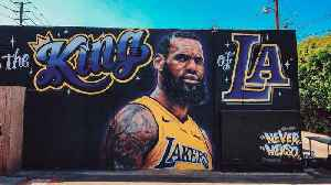 News video: LeBron James Mural Vandalized in Los Angeles