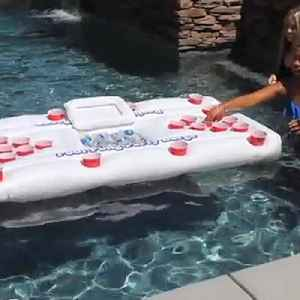 Massive floating beer pong table is the key to your summer pool party [Video]
