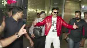 News video: Ranveer Singh's CRAZY At Mumbai Airport  For Simba Movie In Goa | After Shooting