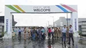 Samsung opens' world's largest phone factory' in India [Video]