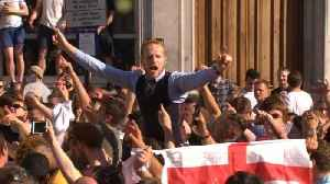 News video: England fans don waistcoats ahead of semi-final against Croatia