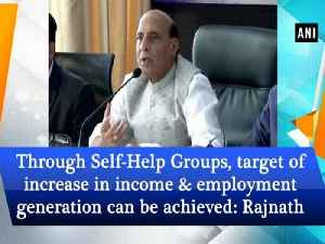 Through Self-Help Groups, target of increase in income and employment generation can be achieved: Rajnath Singh [Video]
