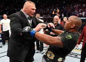 UFC 226: Daniel Cormier and Brock Lesnar Octagon Interviews [Video]