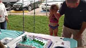 Little Girl Tries To Hide While Her Family Sings Happy Birthday [Video]
