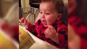 Funny Tot Boy Growls Out Of Happiness When He Sees His Favorite Snack Food [Video]