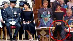 Meghan Markle Makes a Royal Faux Pas While Crossing Her Legs [Video]