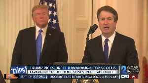 Trump picks Kavanaugh for court, setting up fight with Dems [Video]