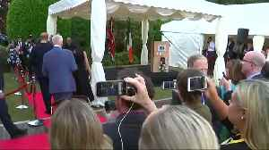 News video: Harry and Meghan visit Dublin as married couple