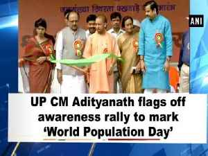 UP CM Adityanath flags off awareness rally to mark 'World Population Day' [Video]