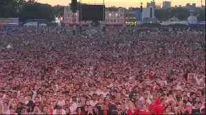 News video: It's not coming home – England fans' hopes dashed