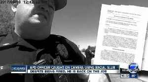 Aurora police chief fires officer after racial slur, but he's back on the job [Video]