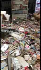 Inside a damaged building from flood-hit western Japan [Video]