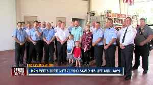 Man surprises Pasco County first responders that saved his life and grass after heart attack [Video]