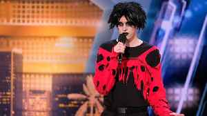 'America's Got Talent': Goth Comedian Overcome With Emotion Following Judges Comments [Video]