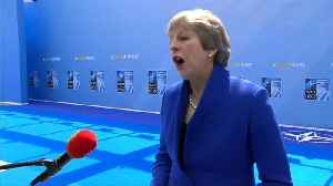May wishes England soccer team luck in World Cup semi-final [Video]