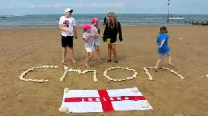 News video: England fans around the country celebrate ahead of World Cup semi-final