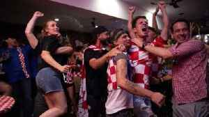 News video: Fans celebrate Croatia's World Cup semi-final win over England