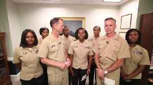 News video: U.S. Navy Will Now Allow Uniformed Servicewomen to Wear Ponytails
