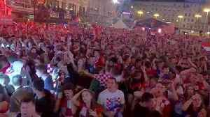 Croatians celebrate history as they beat England to reach World Cup final [Video]