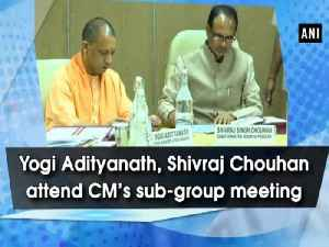 Yogi Adityanath, Shivraj Chouhan attend CM's sub-group meeting [Video]