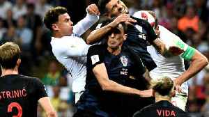News video: Croatia defeats England, now faces France in the final
