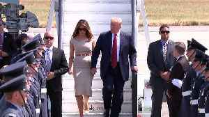 Donald Trump and Melania touch down in London [Video]