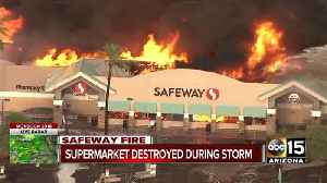 Massive fire under control at Phoenix Safeway, no injuries reported [Video]